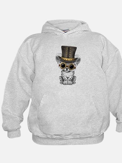 Cute Steampunk Snow Leopard Cub Sweatshirt