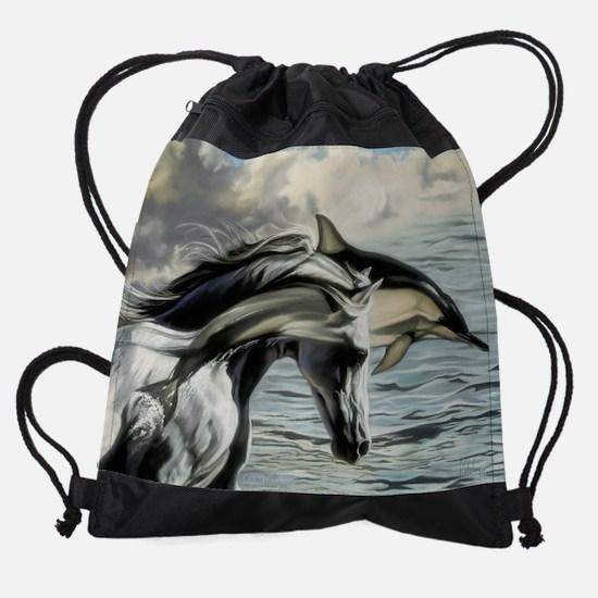 B.E.S.S-cal.jpg Drawstring Bag