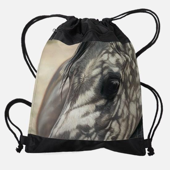 stillness-cal.jpg Drawstring Bag
