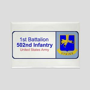 1st Battalion 502nd Infantry Rectangle Magnet
