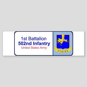 1st Battalion 502nd Infantry Bumper Sticker