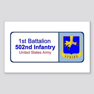 1st Battalion 502nd Infantry Rectangle Sticker