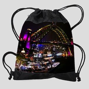 16x20_print bridge colours 6 Drawstring Bag
