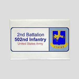 2nd Battalion 502nd Infantry Rectangle Magnet