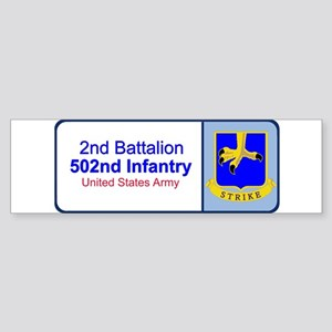 2nd Battalion 502nd Infantry Bumper Sticker