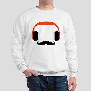 mustache_headphone Sweatshirt
