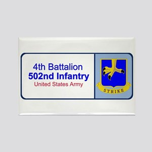 4th Battalion 502nd Infantry Rectangle Magnet