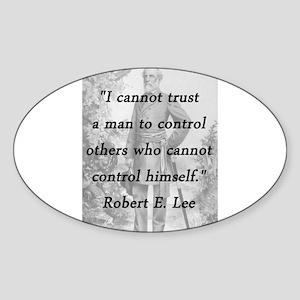 Lee - Trust a man Sticker (Oval)