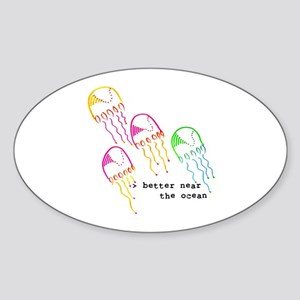 Jelly Fish Oval Sticker