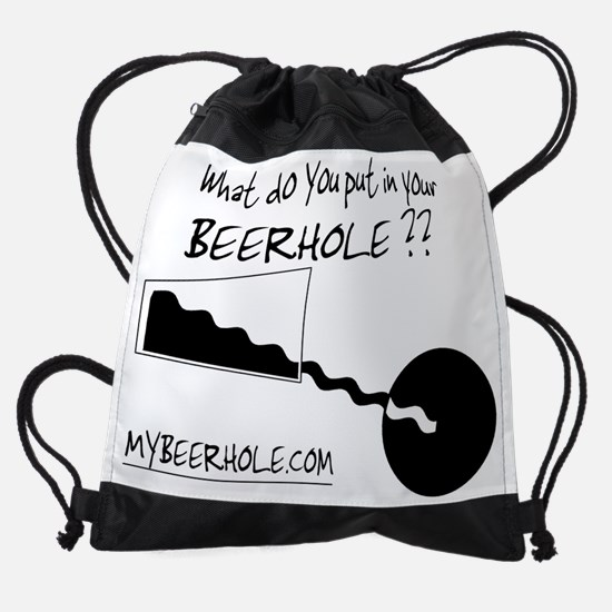 BeerHole with text view.jpg Drawstring Bag