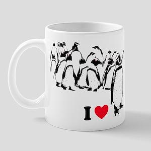 I -heart- Penguins Mug