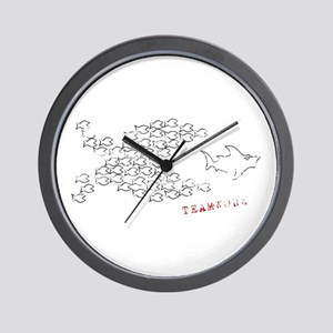 fish teamwork Wall Clock