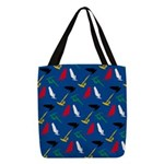 Windsurfing Polyester Tote Bag