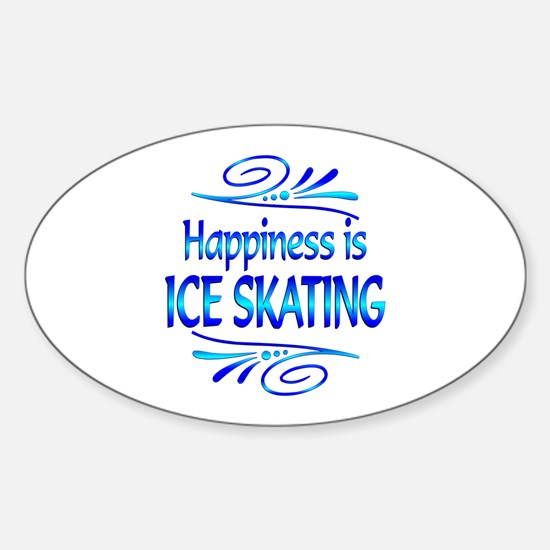 Happiness is Ice Skating Sticker (Oval)