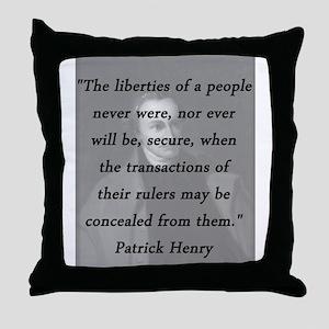 Henry - Liberties of People Throw Pillow