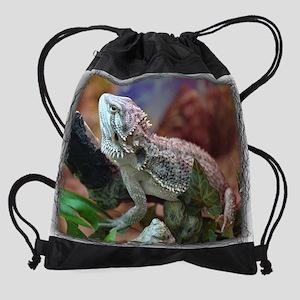(13a)bearded_dragon Drawstring Bag