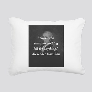 Hamilton - Stand for Nothing Rectangular Canvas Pi