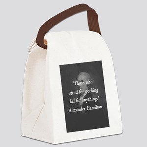 Hamilton - Stand for Nothing Canvas Lunch Bag