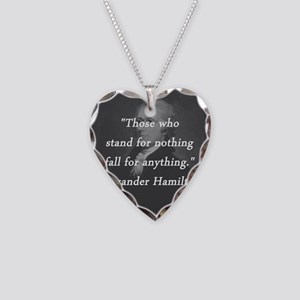 Hamilton - Stand for Nothing Necklace Heart Charm