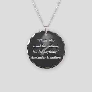 Hamilton - Stand for Nothing Necklace Circle Charm