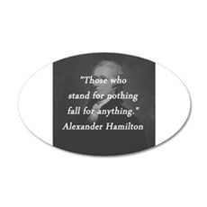 Hamilton - Stand for Nothing Wall Decal