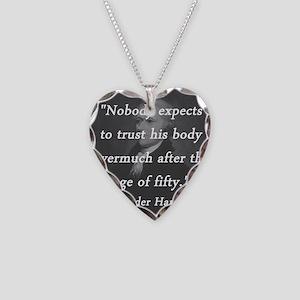 Hamilton - Age of Fifty Necklace Heart Charm