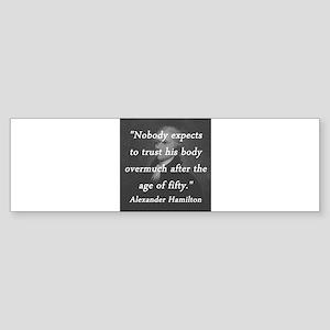Hamilton - Age of Fifty Sticker (Bumper)