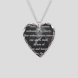Hamilton - Certain Enthusiasm Necklace Heart Charm