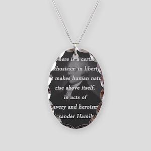 Hamilton - Certain Enthusiasm Necklace Oval Charm