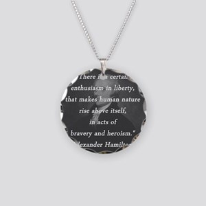 Hamilton - Certain Enthusiasm Necklace Circle Char