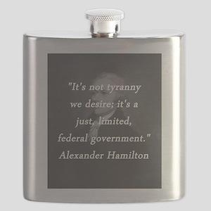 Hamilton - Its Not a Tyranny Flask