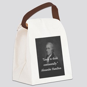 Hamilton - Learn to Think Canvas Lunch Bag