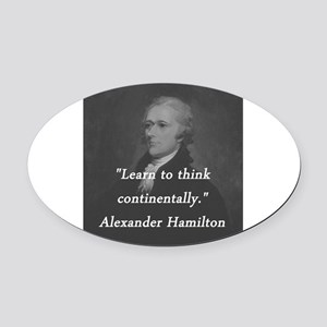 Hamilton - Learn to Think Oval Car Magnet