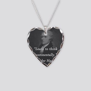 Hamilton - Learn to Think Necklace Heart Charm