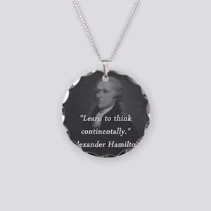 Hamilton - Learn to Think Necklace Circle Charm