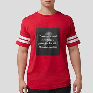 Hamilton - Power Over Mens Football Shirt
