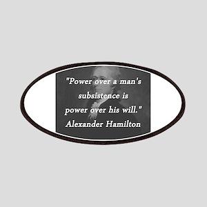 Hamilton - Power Over Patch