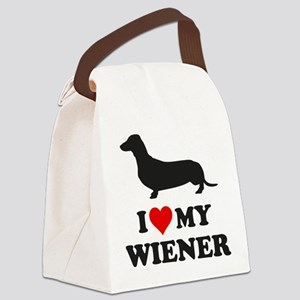 I Love My Wiener Canvas Lunch Bag