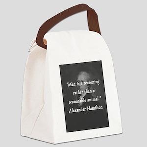 Hamilton - Reasoning Reasonable Canvas Lunch Bag