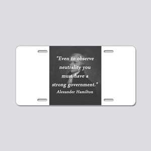 Hamilton - Strong Government Aluminum License Plat