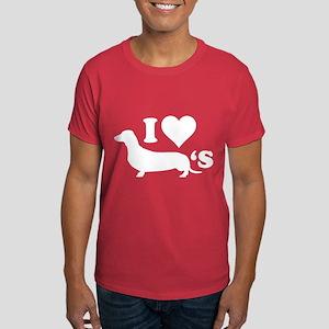 I Love Wieners Dark T-Shirt
