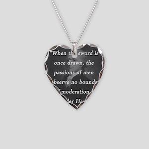 Hamilton - Sword Once Drawn Necklace Heart Charm