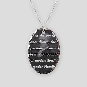 Hamilton - Sword Once Drawn Necklace Oval Charm