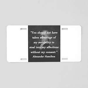 Hamilton - Taken Advantage Aluminum License Plate