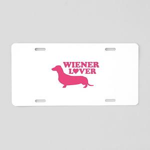 Wiener Lover Aluminum License Plate