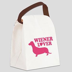 Wiener Lover Canvas Lunch Bag