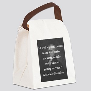 Hamilton - Well Adjusted Person Canvas Lunch Bag