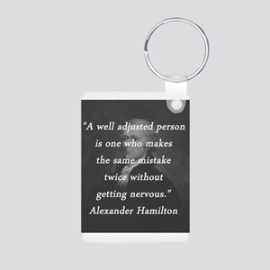 Hamilton - Well Adjusted Person Aluminum Photo Key