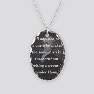 Hamilton - Well Adjusted Person Necklace Oval Char