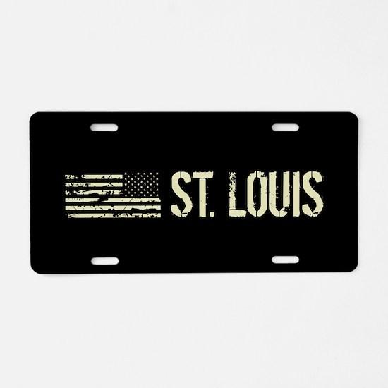 Black Flag: St. Louis Aluminum License Plate